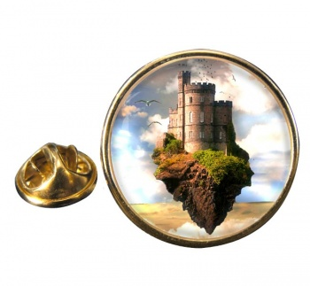 Castles in the Air Round Pin Badge