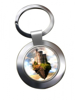 Castles in the Air Chrome Key Ring