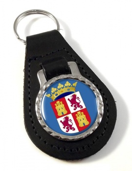Castile and Leon Castilla y Leon (Spain) Leather Key Fob