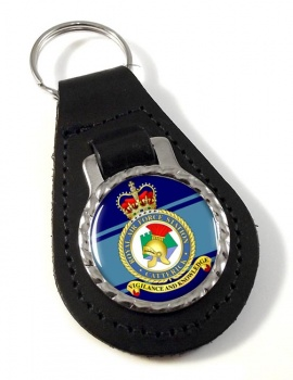 RAF Station Catterick Leather Key Fob