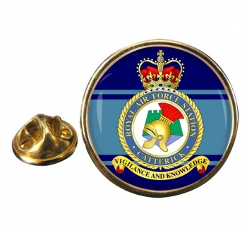 RAF Station Catterick Round Pin Badge