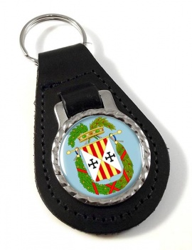 Provincia di Catanzaro (Italy) Leather Key Fob