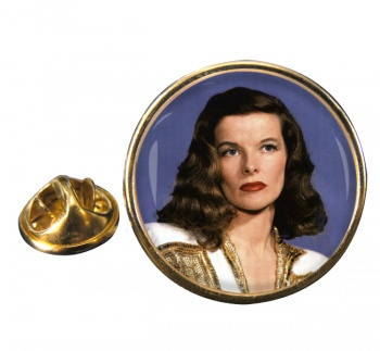Katharine Hepburn Round Pin Badge