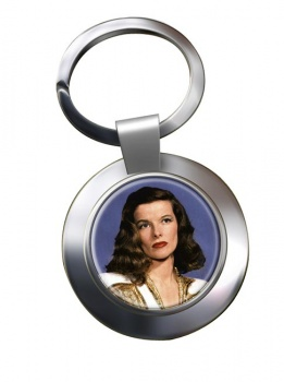 Katharine Hepburn Chrome Key Ring