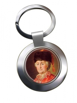 Catherine the Great Chrome Key Ring