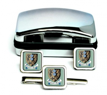 County Cavan (Ireland) Square Cufflink and Tie Clip Set