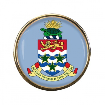 Cayman Islands Round Pin Badge