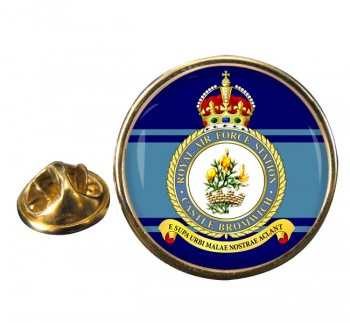 RAF Station Castle Bromwich Round Pin Badge