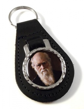 Charles Darwin Leather Key Fob