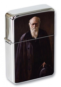 Charles Darwin Flip Top Lighter