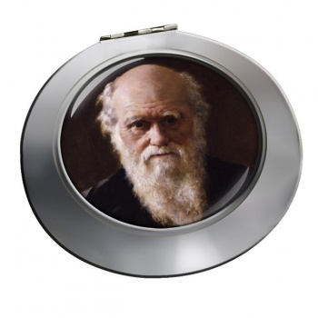 Charles Darwin Chrome Mirror