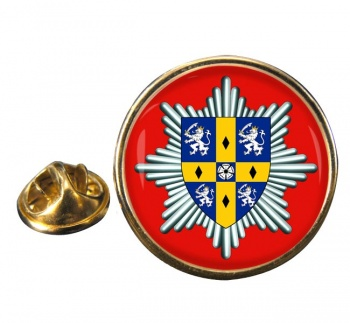 Co. Durham & Darlington Fire & Rescue Service Round Pin Badge