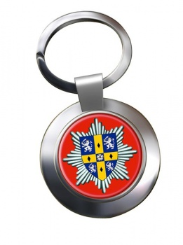 Co. Durham & Darlington Fire & Rescue Service Chrome Key Ring