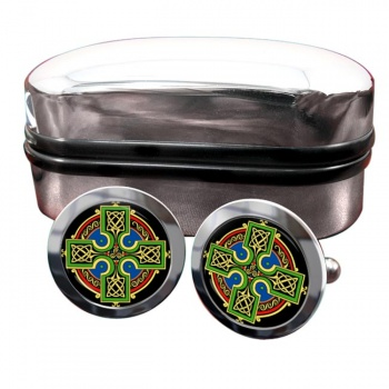 Celtic Cross Round Cufflinks