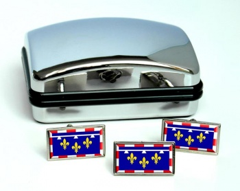 Centre-Val de Loire (France) Flag Cufflink and Tie Pin Set