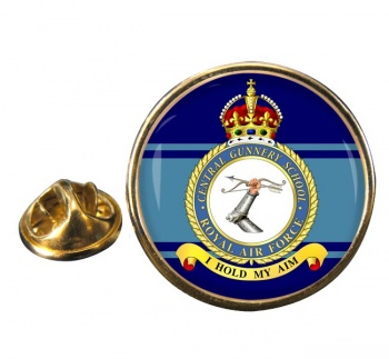 Central Gunnery School (Royal Air Force) Round Pin Badge