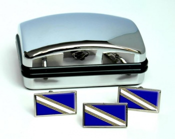 Champagne-Ardenne (France) Flag Cufflink and Tie Pin Set