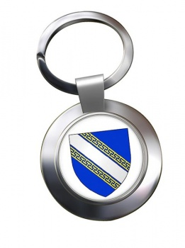 Champagne-Ardenne (France) Metal Key Ring