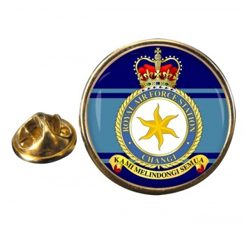 RAF Station Changi Round Pin Badge