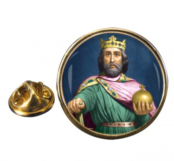 Charlemagne Round Pin Badge