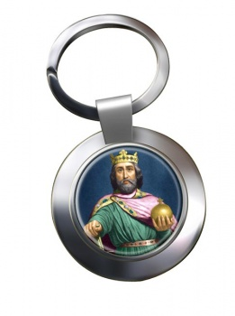 Charlemagne Chrome Key Ring