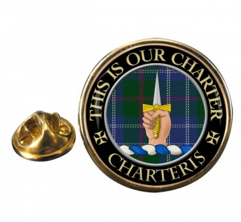 Charteris Scottish Clan Round Pin Badge