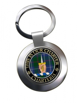 Charteris Scottish Clan Chrome Key Ring