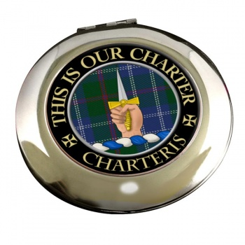 Charteris Scottish Clan Chrome Mirror