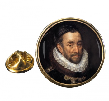 Holy Roman Emperor Charles V Round Pin Badge