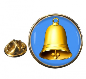Church Bell Round Pin Badge