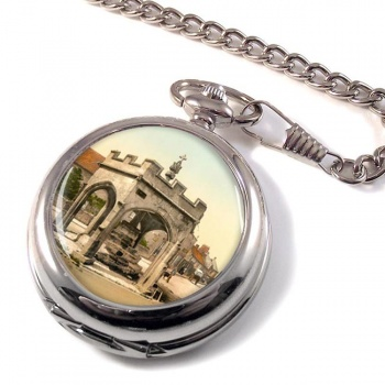 Cheddar Market Cross Somerset Pocket Watch