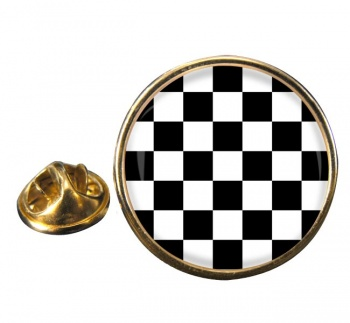 Chequered (Checkered) Floor of King Solomon's Temple Round Pin Badge