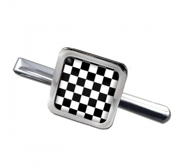 Chequered (Checkered) Floor of King Solomon's Temple Square Tie Clip