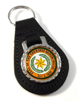 Cherokee Nation (Tribe) Leather Key Fob