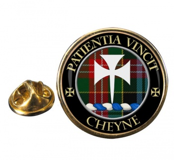 Cheyne Scottish Clan Round Pin Badge