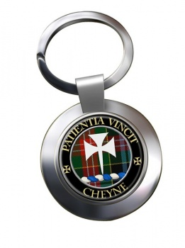Cheyne Scottish Clan Chrome Key Ring