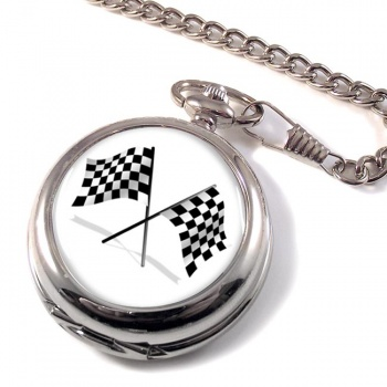 Chequered Flags Pocket Watch