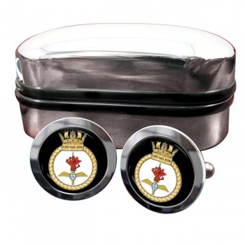 Commando Helicopter Force Royal Marines Round Cufflinks