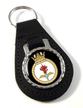 Commando Helicopter Force Royal Marines Leather Key Fob