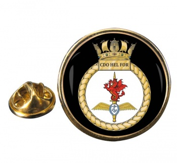 Commando Helicopter Force Royal Marines Round Pin Badge