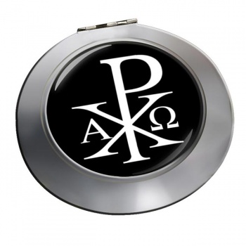 Chi-Rho Alpha Omega  Chrome Mirror