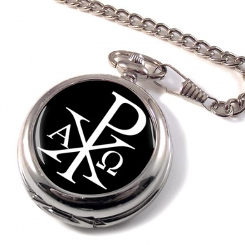 Chi-Rho Alpha Omega  Pocket Watch