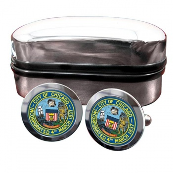 Chicago IL  Crest Cufflinks