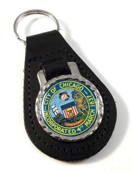 Chicago IL  Leather Key Fob