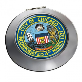 Chicago IL  Round Mirror