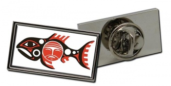 Chinook Tribe Flag Pin Badge