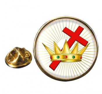 Chivalric Rite Masonic Order Round Pin Badge