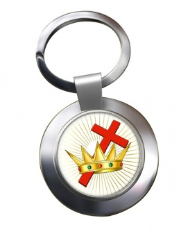 Chivalric Rite Masonic Order Chrome Key Ring