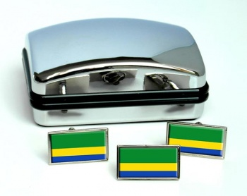 Choco (Colombia) Flag Cufflink and Tie Pin Set