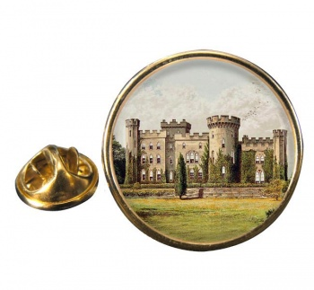 Cholmondeley Castle Cheshire Round Pin Badge